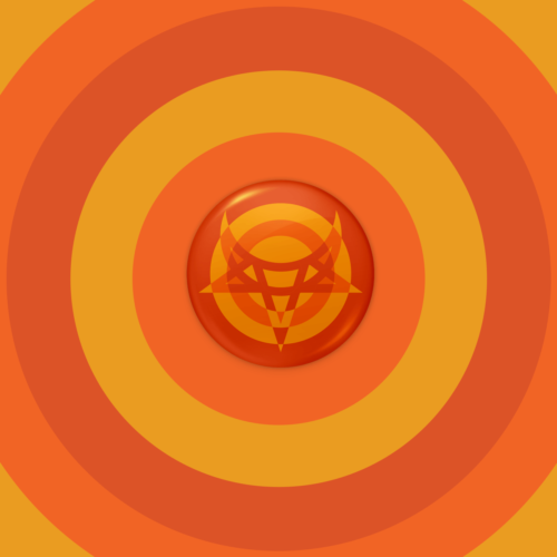 Logo button orange