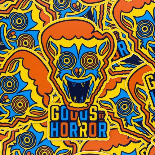 """""""Spunky the Monkey"""" premium vinyl sticker"""